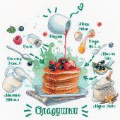 Kit point de croix - Riolis - Recette de pancakes