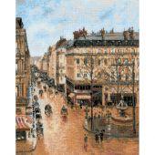Kit point de croix - Riolis - Rue saint-Honoré d'après Pissarro