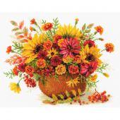 Kit point de croix - Riolis - Fleurs d'automne