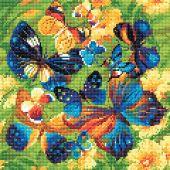 Kit de broderie Diamant - Riolis - Papillons lumineux