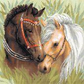 Kit de broderie Diamant - Riolis - Couple de chevaux