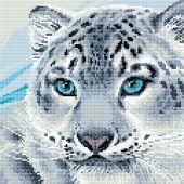 Kit de broderie Diamant - Riolis - Léopard des neiges