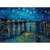 Kit de broderie Diamant - Riolis - Nuit étoilée sur le Rhône d'après Van Gogh