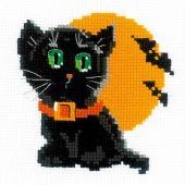Kit point de croix - Riolis - Chat noir