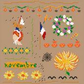 Kit point de croix - Un point pour toi - Novembre