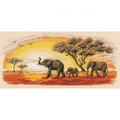 Kit point de croix - Vervaco - Les éléphants