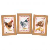Kit point de croix - Vervaco - Les poules