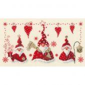 Kit point de croix - Vervaco - Joyeux bonhommes de Noël