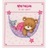 Kit point de croix - Vervaco - Petit ours dans le hamac