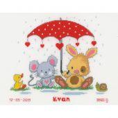 Kit point de croix - Vervaco - Sous le parapluie