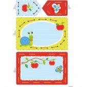 Kit de carte à broder enfant - Vervaco - Kit à créer - Escargot et Papillon