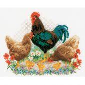 Kit point de croix - Vervaco - Coq et poulets