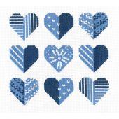 Kit point de croix - Vervaco - Coeurs