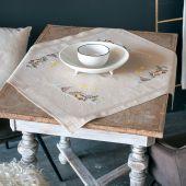 Kit de nappe à broder - Vervaco - Paysage d'hiver avec étoile