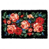 Kit de tapis point noué - Vervaco - Roses