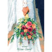 Kit point de croix - Vervaco - Bouquet de la mariée