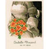 Kit point de croix - Vervaco - La mariée aux roses