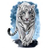 Kit de broderie Diamant - Wizardi - Tigre puissant