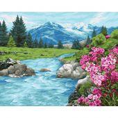 Kit de peinture par numéro - Wizardi - Fraîcheur de l'Altaï