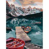 Kit de peinture par numéro - Wizardi - Lac paisible