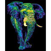 Kit de peinture par numéro - Wizardi - Mystérieux éléphant