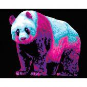 Kit de peinture par numéro - Wizardi - Panda néon