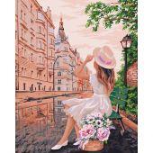 Kit de peinture par numéro - Wizardi - Rendez-vous en ville