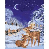 Kit de peinture par numéro - Wizardi - Réveillon de Noël