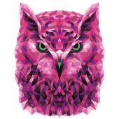 Kit de peinture par numéro - Wizardi - Hibou polygonal