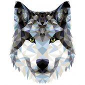 Kit de peinture par numéro - Wizardi - Loup polygonal