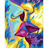 Kit de peinture par numéro - Wizardi - Baiser passionné