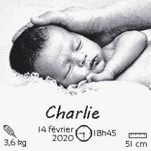 Kit point de croix - Marie Coeur - Amour