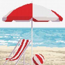 Kit point de croix - Marie Coeur - Bord de mer rouge