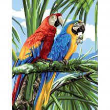 Canevas Pénélope  - Royal Paris - Las macaws