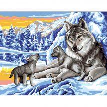 Canevas Pénélope  - Royal Paris - Les loups en hiver