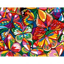 Canevas Pénélope  - Margot de Paris - Papillons colorés