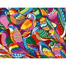 Canevas Pénélope  - Margot de Paris - Oiseaux colorés