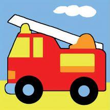 Kit de canevas pour enfant - Margot de Paris - Le camion de pompier