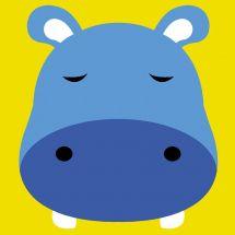 Kit de canevas pour enfant - Margot de Paris - Hippopotame
