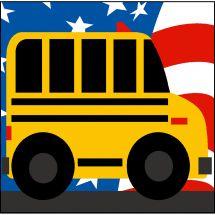 Kit de canevas pour enfant - Margot de Paris - Bus scolaire