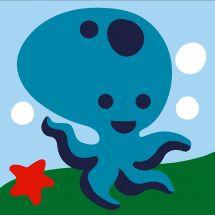 Kit de canevas pour enfant - Margot de Paris - La pieuvre bleue