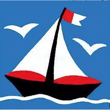 Kit de canevas pour enfant - Margot de Paris - Le petit bateau