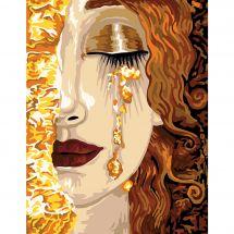 Canevas Pénélope  - Margot de Paris - Les larmes de Freyja d'après Klimt