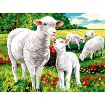 Canevas Pénélope  - Margot de Paris - Moutons au champ