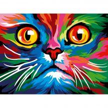 Canevas Pénélope  - Margot de Paris - Face cat colored