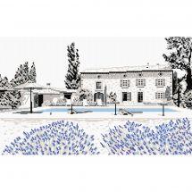 Kit point de croix - Marie Coeur - Maison provençale