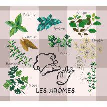 Kit point de croix - Marie Coeur - Les arômes