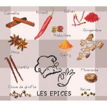 Kit point de croix - Marie Coeur - Les épices