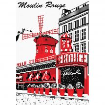 Kit point de croix - Marie Coeur - Moulin rouge