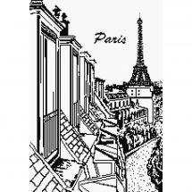 Kit point de croix - Marie Coeur - Toits de Paris